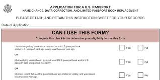 ds 5504 change name on passport application form passports