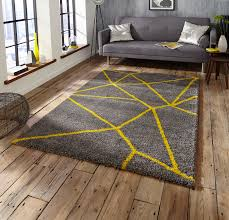 Shaggy Grey Rug Casablanca Shaggy Rugs Grey Yellow 5746 Rug Martin Phillips