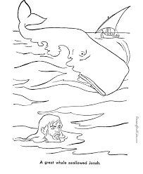 Jonah And Whale Bible Coloring Page To Print 044 Whale Color Page