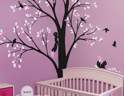 Flower Wall Decals For Nursery by Full Corner Tree Squirrel Bird Flower Wall Decals Nursery Kids