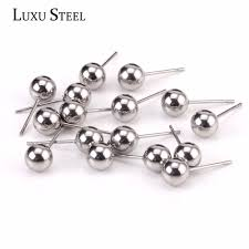 stainless steel stud earrings luxusteel stainless steel 2mm to 10mm surgical stainless