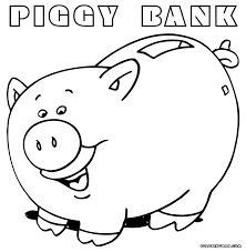 piggy bank coloring page funycoloring