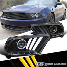 ebay mustang headlights 10 14 mustang sequential led signal drl black projector headlights