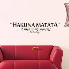 aliexpress com buy the lion king quotes hakuna matata it means