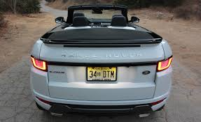 range rover evoque rear 2017 land rover range rover evoque convertible exterior open roof