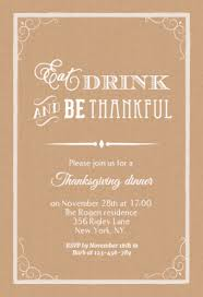eat drink and be thankful free printable thanksgiving invitation