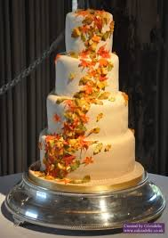 falling autumn leaf wedding cake wedding cakes
