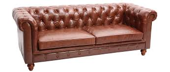 canapé cuir vintage 3 places chesterfield miliboo