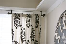 accessories ceiling mounted curtain rods intended for stylish