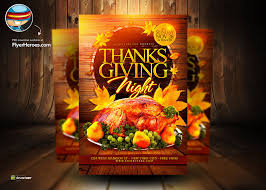 thanksgiving psd flyer template by flyertemplates on deviantart