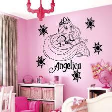 wall arts custom family name wall art personalized name wall art wall arts personalized name cartoon princess vinyl art wall art sticker girls bedroom decal kids