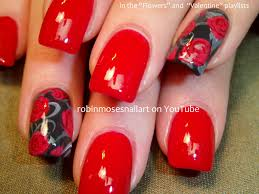 nail art design red rose valentine nails red rose nails red