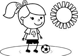 sweet soccer playing football coloring page wecoloringpage