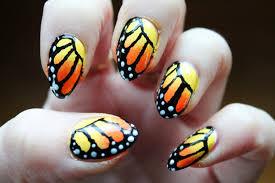 jersey texan heart monarch butterfly nail art