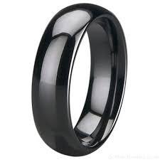 titanium wedding rings uk men s 6mm black zirconia ceramic court wedding ring