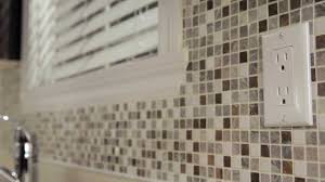 how to do tile backsplash in kitchen rona how to install mosaic tiles youtube