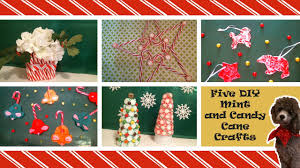 five diy candy cane and peppermint crafts youtube