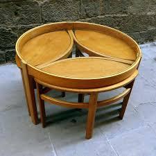hammary round nesting coffee table nesting coffee table set