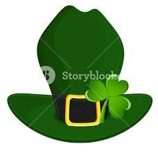 leprechaun hat with clover leaf royalty free stock image storyblocks