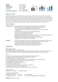 Sample Resume For Administrative Assistant Office Manager by Administrative Resume Template Functional Resume For An Office