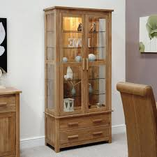 Wood Display Cabinets With Glass Doors Pine Wood Glass Door Display Cabinet Home Ideas Collection