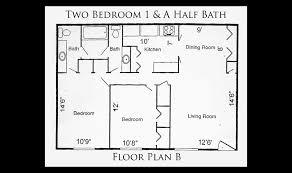 2 bedroom 2 bath floor plans 2 bedroom 1 bath apartment floor plans