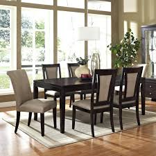 espresso dining table chairs room furniture formal sets finish