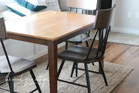 breakfast nook table makeover the wood grain cottage