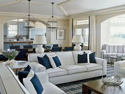 coastal home furniture navy blue and white living room decor navy