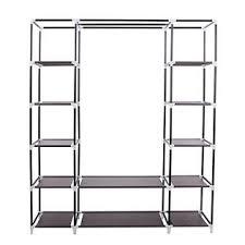 Wardrobe With Shelves by Songmics Portable Clothes Closet Non Woven Fabric Wardrobe Storage
