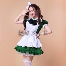 Womens Halloween Costumes Aliexpress Buy Cute Green Maid Cosplay Costume Wear