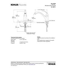 Kohler A112 18 1 Kitchen Faucet Parts Kohler Faucet K 10411 Cp Forte Polished Chrome One Handle Kitchen