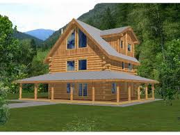 two story house plans with wrap around porch rainbow lake rustic log home plan 088d 0047 house plans and more