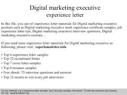 digital marketing executive experience letter 1 638 jpg cb u003d1408705347
