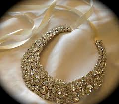 chunky crystal necklace jewelry images Chunky clear crystal bridal statement necklace swarovski crystal JPG