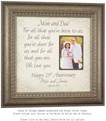 25th anniversary gifts for parents 25th anniversary picture frame images craft decoration ideas
