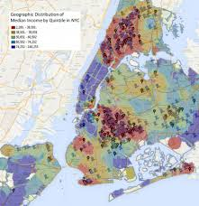 New York Maps by New York City Income Vs Shootings Map Business Insider