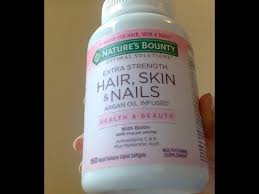 nature u0027s bounty extra strength hair skin and nails supplement