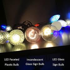 s14 sign bulb e27 base t50 led warm white box of 25 bulbs
