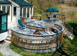 building a curved deck with synthetic decking fine homebuilding