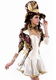 Wedding Dress Halloween Costume Mad Hatter Costume Alice Wonderland Costume Women Cosplay