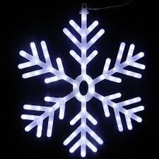 alpine 25 in 102 light white led hanging snowflake decor cad110wt