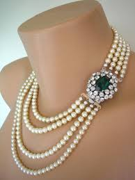 emerald pearl necklace images Emerald necklace statement necklace emerald choker pearl necklace jpg