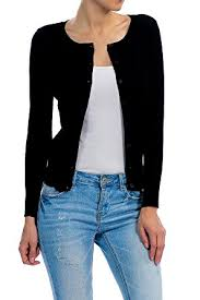 yourstyle basic solid button up crew neck cardigan sweater s 3xl