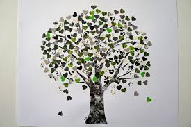 ideas from the forest craft idea tree of hearts
