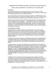 wbs concepts product development project management