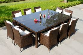oxford 10 seater wicker rattan dining set outdoor dining tables