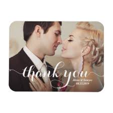 wedding magnets wedding thank you refrigerator magnets zazzle