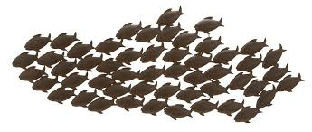 Metal Wall Decoration Amazon Com Deco 79 Metal Fish Wall Decor 53 By 20 Inch Home