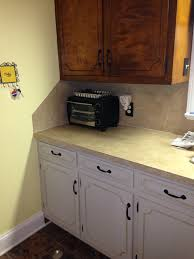 Staining Kitchen Cabinets Darker Before And After by A Before And After Amy Howard One Step Paint On Our Kitchen